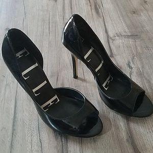 Elle black patent stilettos